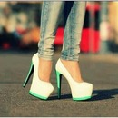 Cute White And Mint Heals