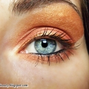 Orange and Gold make up