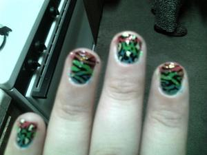 rainbow with zebra and leopard print