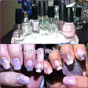 Did some girly princess nails. Glitter jelly is my own franken! Feeling perdy! Follow me on IG @ashes_jaded4nails