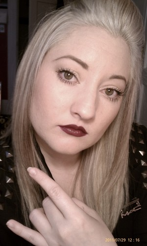 This was a trend from A/W 2011. Focus on one feature. I think I used Vino liner with Rebel lip stick.