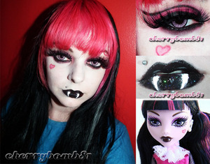 Like my makeup? Like my facebook page. http://www.facebook.com/TheCherryBomb81 Give me some love