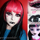 Monster High Draculaura Halloween Makeup Look
