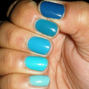Turquoise/Teal Ombre