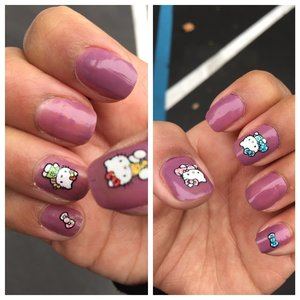 wet  n wild  color: private viewing  and hello kitty nail stickers