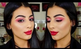 CANDY CANE CHRISTMAS LOOK!   COLLAB WITH BEAUTYBYJULIA