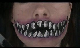 Halloween Makeup: Cheshire Cat Mouth Face Paint/Makeup Tutorial