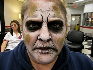 Halloween Face paint I did for a client.