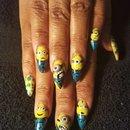 minion nails by SauceC Nailz