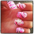 Pink Crowns & Bows NailArt