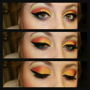 i also used bella pierre 9 stack pigments, bfte pigments and medusas makeup eyeshadow in electro red