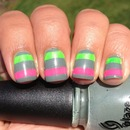 Grey Striped Nails- I LOVED these!!!