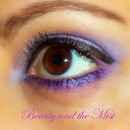 Bright Purple eye make up