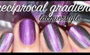 Colorblock Reciprocal Gradient Nail Art | Lacquerstyle