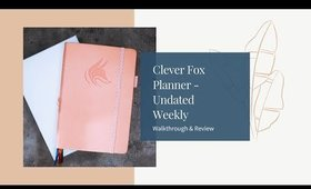 CLEVER FOX UNDATED WEEKLY PLANNER