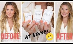 THIS WAS A MISTAKE 🤦🏼‍♀️ OLAPLEX DIY AT HOME STANDALONE TREATMENT USING THE TRAVELING STYLIST KIT