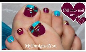 Color Block Toenail Art | Purple and Blue Pedicure ♥ Diseño de Uñas de Pies