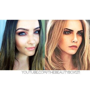 Cara Delevingne makeup tutorial on my YouTube channel! YouTube.com/TheBeautyBox1211