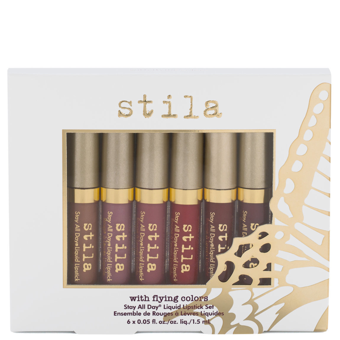 Stila With Flying Colors - Stay All Day Liquid Lipstick Set product smear.