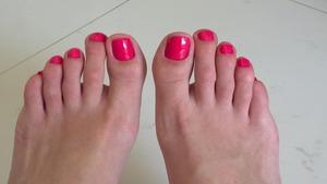 Hello Kitty pink polish.