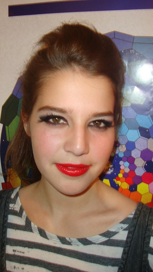 Catwoman Makeup, modelled by my friend Megan