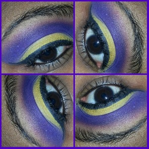 look created using the coastal scents 120 2nd edition palette and the bh cosmetics gel liner in onyx.
