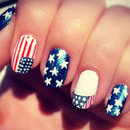 Patriotic Nail Art- Memorial Day Nails