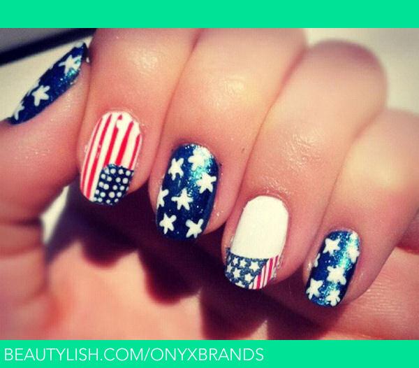 Patriotic Nail Art Memorial Day Nails Onyx Bs Onyxbrands