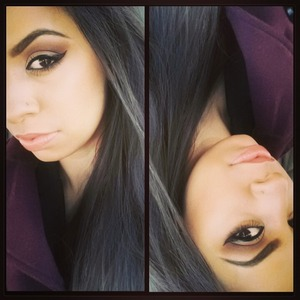 smokey browns, winged liner bbe and peach nude lips :-*  instagram:shamiimua