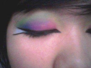 my arabian look! i got inspired by mzddd22 rainbow eye!
