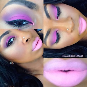 I love pink! Follow me on instagram @muashaleena to see what I used for this and many other makeup looks! :)