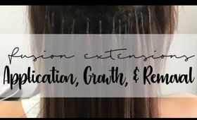 Fusion Hair Extensions - Application, Growth, & Removal | Instant Beauty ♡