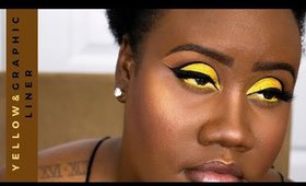 Vibes Series/Yellow Cut Crease and Graphic Liner.