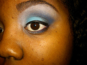 Dramatic eye with no foundation.