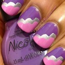 Pink and purple cloud manicure
