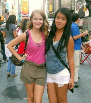 kimberly in times square :)