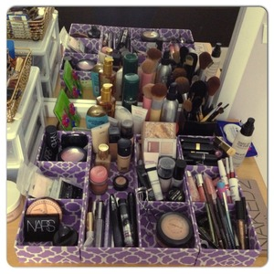 I finally organized my everyday makeup :) thank you Homesense! ✌❤