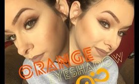 Warm orange eyeshadow= TUTORIAL