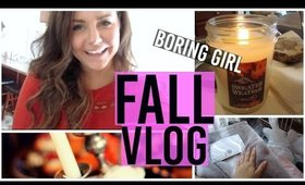 Fall Vlog - Haul, Cleaning, Teen Mom | Boring Girl Vlogs