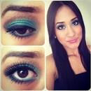 #Me#Green#Brown#Eyeshadow