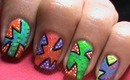 Pop Art Nail Designs - Drawing Nail For Pop Art Nails - Short &Long Nails Neon DIY tutorial