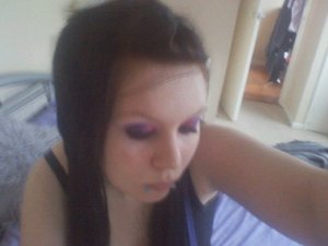 Duel colour Eyes Pink and Purple and Hair Extentions <3