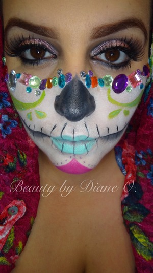 Sugarskull version I love just a little more colorful then traditional!