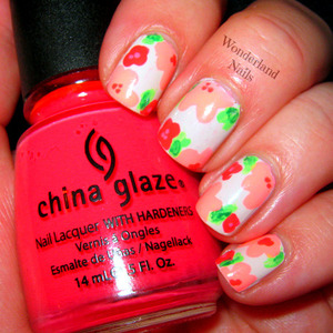 For more info please visit my blog http://wonderland-nails.blogspot.com/2013/07/floral-nail-art.html