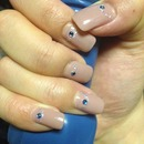 Pink With Blue Diamante