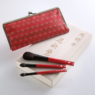 Cherry Blossom 3-Piece Brush Set