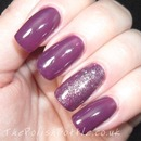 Gelish Plum And Done And June Bride On GHG Extensions
