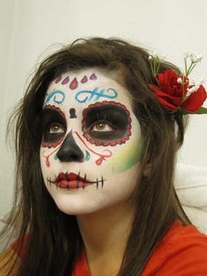 Dia De Los Muertos (day of the dead) MU i did on my daughter