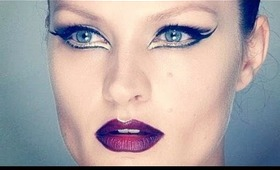 GRAPHIC EYES & DARK LIPS MAKE-UP
