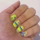 green crazy nails